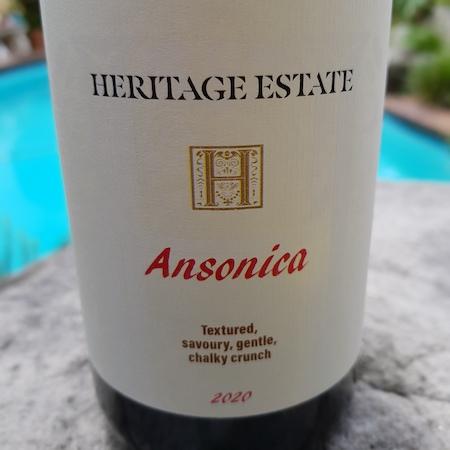 Heritage Estate 2020 Ansonica