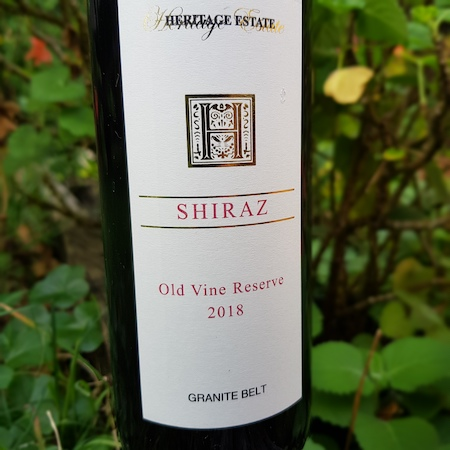 Heritage Estate 2018 Old Vine Reserve Shiraz
